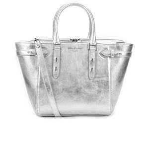 Aspinal of London Women's Marylebone Mini Tote Bag - Silver Smooth