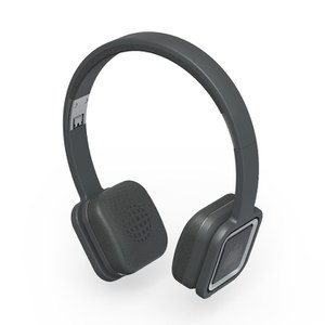 Ministry of Sound Audio On Plus, Wireless Bluetooth On Ear Headphones - Charcoal and Gun Metal