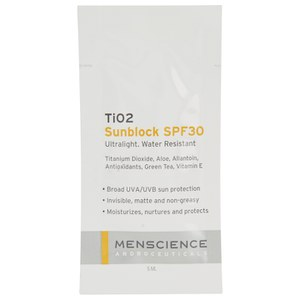 Menscience Sample TiO2 SPF 30 Sunblock (5ml)