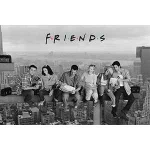 Friends Lunch On A Skyscraper - 24 x 36 Inches Maxi Poster