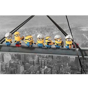 Despicable Me Minions Lunch On A Skyscraper - 24 x 36 Inches Maxi Poster