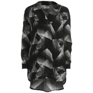 nümph Womens Judy Geometric Oversized Shirt - Caviar