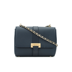 Aspinal of London Lottie Letterbox Chain Bag - Navy