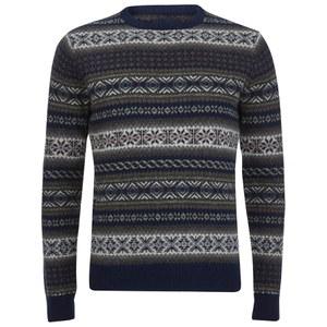 GANT Men's Jacquard Lambswool Crew Sweater - Multi