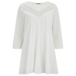 Vero Moda Women's Sonia 3/4 Length Sleeve Dress - Snow White
