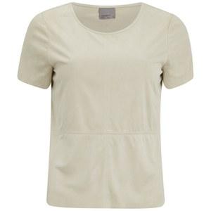 Vero Moda Women's Fakko Short Sleeve Top - Oatmeal