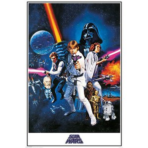 Star Wars A New Hope One Sheet - 24 x 36 Inches Maxi Poster