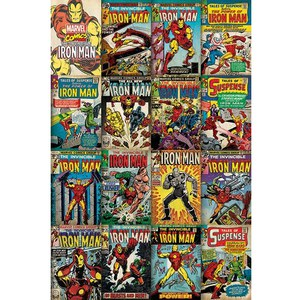 Marvel Iron Man Covers - 24 x 36 Inches Maxi Poster