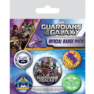 Marvel Guardians Of The Galaxy - Badge Pack