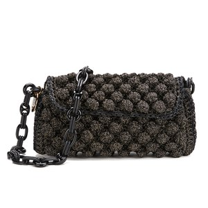 M Missoni Women's Raffia Shoulder Bag - Black