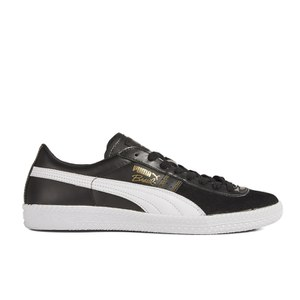 Puma Men's Brasil Exotic Trainers - Black/White/Gold