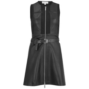 MICHAEL MICHAEL KORS Women's Belted Leather Dress - Black