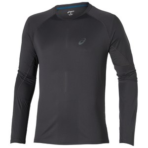 Asics Men's Elite Long Sleeve Running Top - Dark Grey