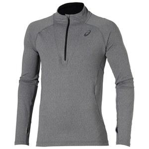 Asics Men's Long Sleeve 1/2 Zip Running Top - Dark Grey Heather