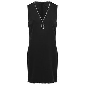 Alexander Wang Women's Sleeveless Dress with Keyhole Ballchain Neckline - Nocturnal