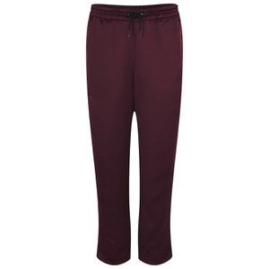 T by Alexander Wang Women's Poly Satin Track Pants with Elastic Waistband - Garnet