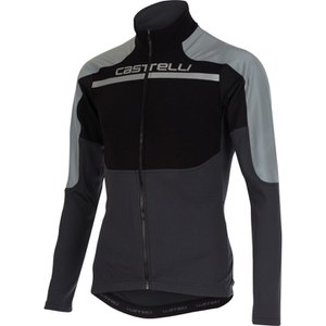 Castelli Secondo Strato Reflex Long Sleeve Jersey - Black/Reflex/Grey