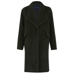 French Connection Women's Tyler Wool Wrap-Over Coat - Turtle