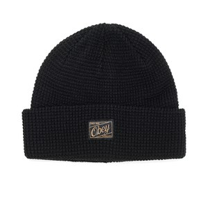 OBEY Clothing Men's Roscoe Waffle Knitted Beanie - Black