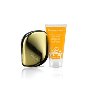 Balance Me & Tangle Teezer Gold Set (worth £22.25)