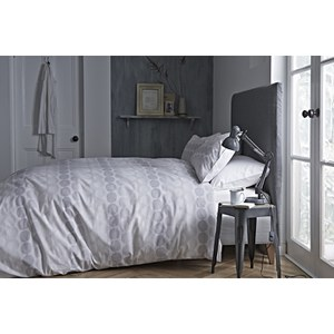 Bianca Spot Oxford Pillowcase - Grey