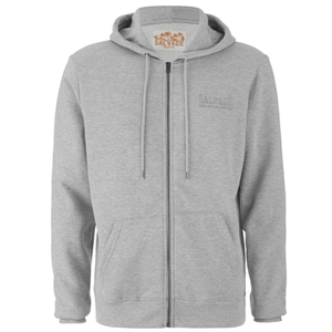 Salvage Men's Zip Through Hoody - Light Grey Marl