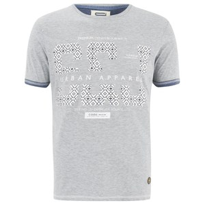 Smith & Jones Men's Parnholt Print T-Shirt - Light Grey