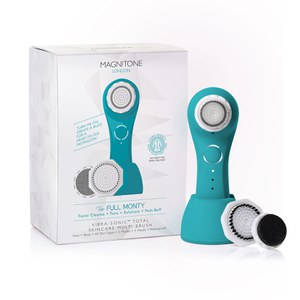 Magnitone Full Monty! Vibra-Sonic™ Face and Body Brush - Electric Blue