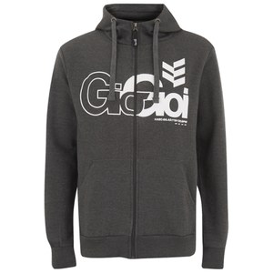 Gio-Goi Men's Lancer Zip Through Hoody - Charcoal Marl