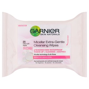 Garnier Skin Naturals Micellar Extra-Gentle Cleansing Wipes (25 Pack)