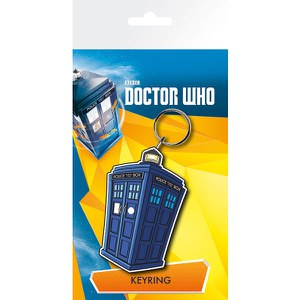 Doctor Who Tardis Illustration - Keychain
