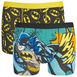 Batman Men's 2 Pack All Over Print Boxers - Blue