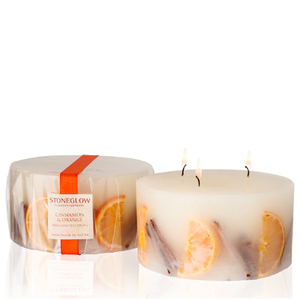 Stoneglow Botanical Collection 3 Wick Candle - Cinnamon and Orange