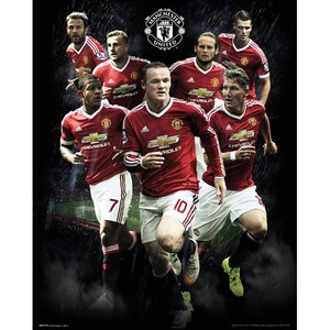 Manchester United Players 15/16 - 16 x 20 Inches Mini Poster