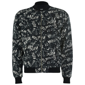 Versus Versace Men's All Over Print Jacket - Black