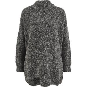 Selected Femme Women's Erica Knitted Pullover - Dark Grey Melange