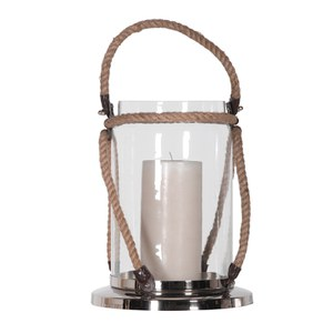 Bark & Blossom Large Lantern with Rope Handle
