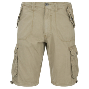 Brave Soul Men's George Cargo Shorts - Stone