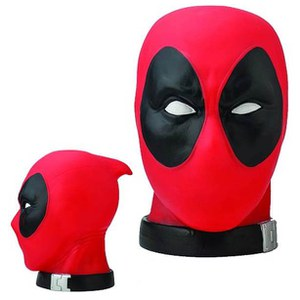 Monogram Marvel Deadpool Head 1:1 Scale Coin Bank
