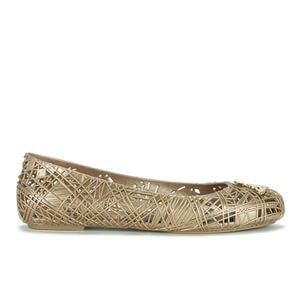 Vivienne Westwood for Melissa Women's Scribble Ballet Flats - Gold