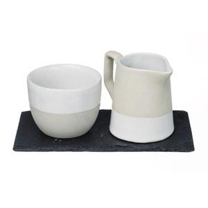 Just Slate Stoneware Milk and Sugar Set