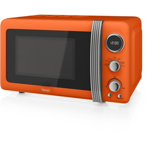 Swan SM22030ON 800W Digital Microwave - Orange