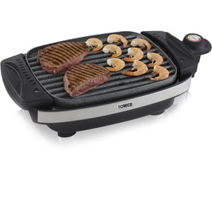 Tower T14019 Cerastone Reversible Grill - Black