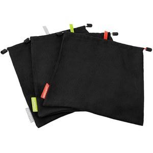 TomTom Bandit Micro Fiber Bags (x 3) - Black