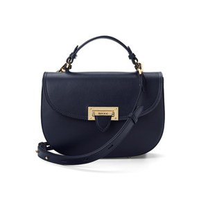 Aspinal of London Women's Letterbox Saddle Bag - Navy