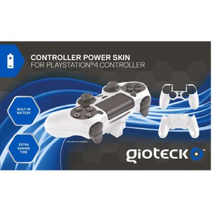 Gioteck PS4 Controller Power Skin - White