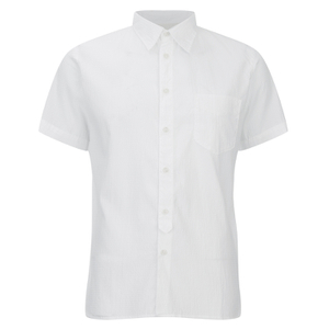 Universal Works Men's Seersucker Short Sleeve Shirt - White