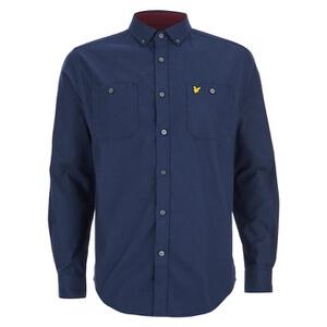Lyle & Scott Vintage Men's Fairisle Detail Knitted Shirt - Navy