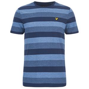 Lyle & Scott Vintage Men's Winter Stripe T-Shirt - Navy