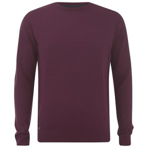 Kensington Eastside Men's Burrow Crew Neck Jumper - Oxblood